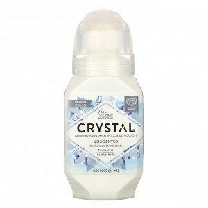 Crystal Body Deodorant, Минеральный шариковый дезодорант, без запаха, 66 мл