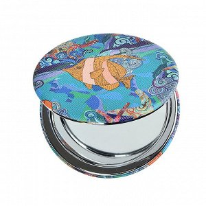 SEA Зеркало карманное, ПУ, сплав, стекло, d=7см