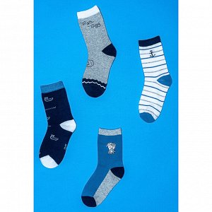 Носки детские, 80% хлопок, 15% полиамид, 5% спандекс, р-ры 14-16/16-18/18-20см, 4-5 цветов, НД19-6