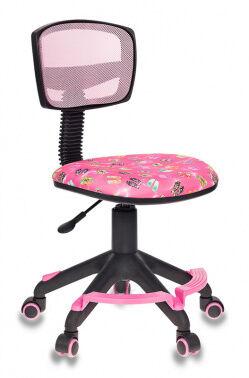 Кресло детское Бюрократ CH-299-F/PK/FLIPFLOP_P подставка для ног спинка сетка розовый сланцы