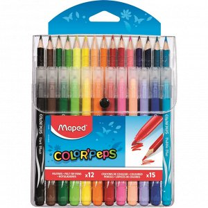 Набор для рисования Maped COLOR'PEPS 12 флом + 15 цвет. кар...
