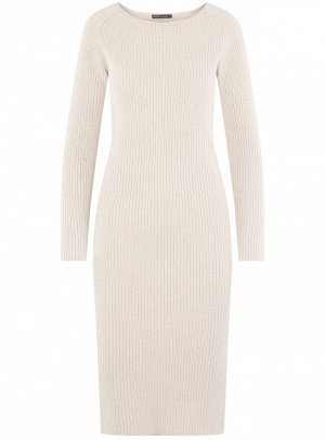Платье вязаное в рубчик