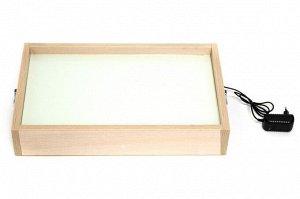 Световой стол для песочной анимации с белой подстветкой (1 режим,в компл.сет.адаптер) 600х400х115мм