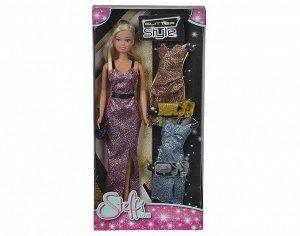 "Steffi.5733207 Кукла Штеффи, набор ""Сверкающий стиль"" 29см. 6/48"