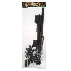 Combat. Ружье с оптическим прицелом с пульками. в пакете 43см. арт.1B00138