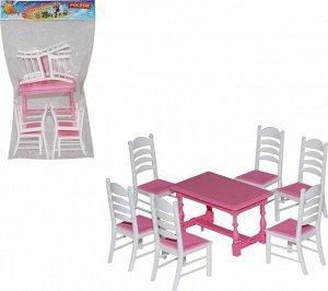 Полесье. Набор мебели для кукол №6 арт.54395 (7 элем.) в пак.