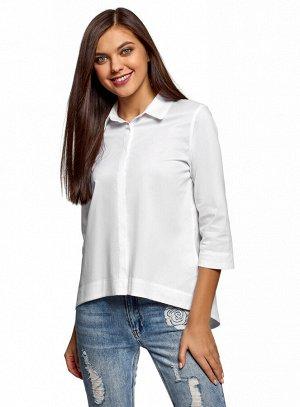 Рубашка свободного силуэта с асимметричным низом