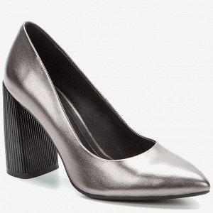908008/01-07 т.серебряный иск.кожа женские туфли
