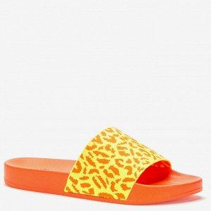 807631/01-03 оранжевый текстиль женские туфли открытые