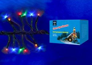 Гирлянда светодиодная с контроллером «Фейерверк», 3м. 200 светодиодов. Разноцветный свет. Провод зеленый.  MULTI IP20 FIRECRACKER  (ULD-S0300-200/DGA)