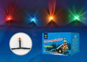 Гирлянда с контроллером, 25м. 500 миниламп накаливания. Разноцветный свет. Провод зеленый. MULTI IP20 MINI , (UDL-S2500-500/DGA)