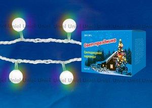 Гирлянда светодиодная «Радуга», 50 светодиодов, 7 м, RGB, IP20, провод прозрачный, (ULD-S0700-050/DTA)