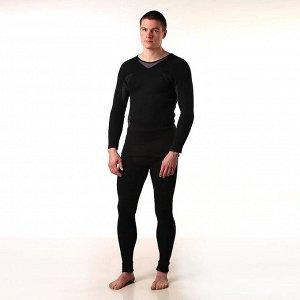 Термобельё мужское (джемпер, кальсоны) цвет чёрный, размер 54