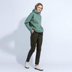 "Брюки женские MINAKU ""Leather look"", размер 42, цвет хаки"