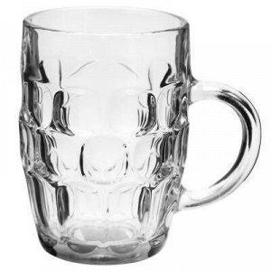 """Кружка для пива стеклянная """"Жигулевское"""" 650мл, д9,5см h14см"""