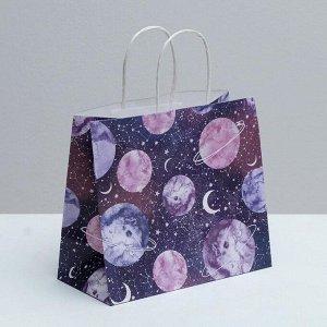 Пакет подарочный космический 02
