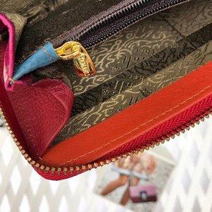 Полноразмерный кошелек Arabica из натуральной кожи цвета мультиколор.