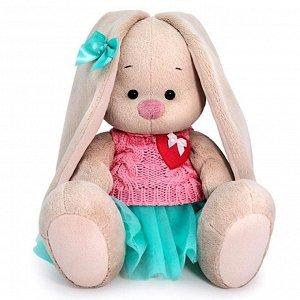 Мягкая игрушка «Зайка Ми» в юбке и вязаном жилете 18 см