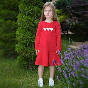 Платье Количество в упаковке: 1; Артикул: BN-128О20-461-А; Цвет: Красный; Ткань: Футер 3-х нитка; Состав: 100% Хлопок; Цвет: Красный Скачать таблицу размеров