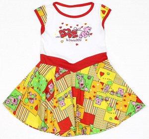 Платье-в 2 Артикул: АИ-656/2; Ткань: Кулирка; Состав: 100% Хлопок; Цвет: Разноцветный Скачать таблицу размеров                                                 Платье кулирка.