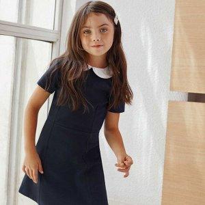 Платье с отложным воротничком - синий