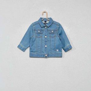 Куртка из джинсового трикотажа - голубой
