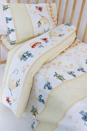 """Комплект постельного белья """"Зайчики 3"""" Ясли"""