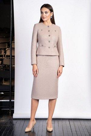 Женский элегантный комплект с юбкой. 48 размер.