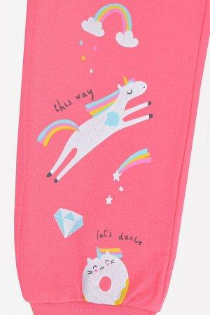 Брюки Количество в упаковке: 1; Артикул: CRO-К 4887; Цвет: Розовый; Ткань: Футер петля; Состав: 100% Хлопок; Цвет: Розово-брусничный Брюки из однотонного футера-петли. Эластичные манжеты и пояс. Боко