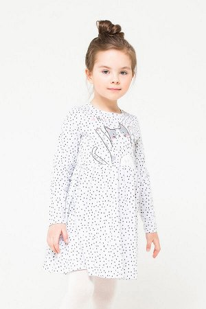 Платье(Осень-Зима)+girls (св.серый меланж,крапинка к1252)