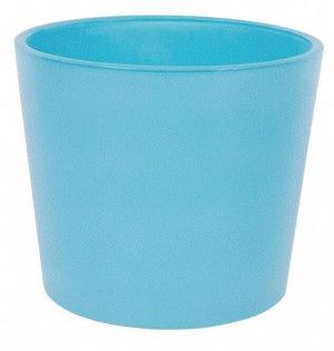 Кашпо цветочное «Голубое стекло», D14, 1л. стекло, Синий