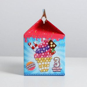 Набор для творчества «Магнитики своими руками: пончик, капкейк, мороженка»