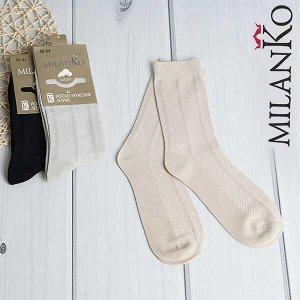 Мужские носки летние из отборного хлопка (узор 2) milanko