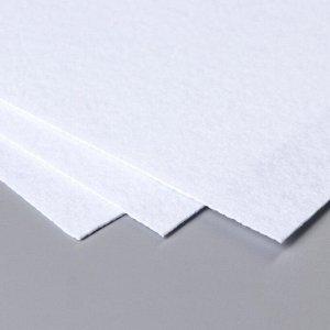 """Набор жесткого фетра Астра  (3 шт) """"Белый"""" 1 мм 160гр 20х30 см"""