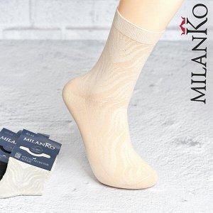 Мужские носки летние с выбитым рисунком (узор 3) milanko