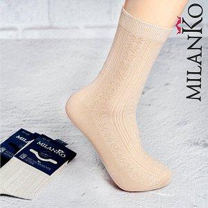 Мужские носки летние с выбитым рисунком (узор 2) milanko
