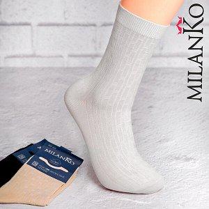 Мужские носки летние с выбитым рисунком (узор 1) milanko
