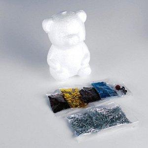 Набор для творчества. Игрушка пайетками «Мишка» 13,7 х 9,3 х 7,8 см + 3 цвета пайеток