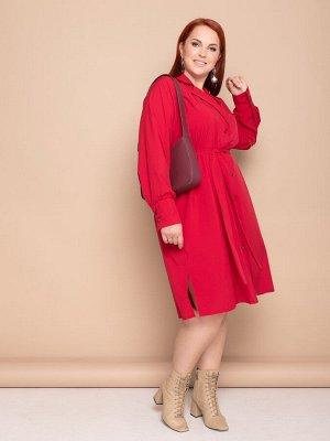 Платье 132-71 алое