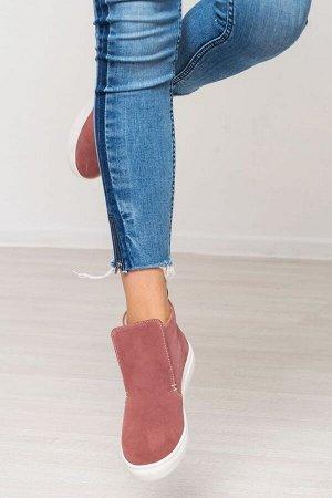 Замшевые слипоны ANKLE SLIP цвета кения