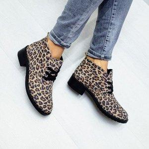 Кожаные ботинки Desert в цвете светлый лео