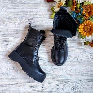 Черные кожаные ботинки Woodstock из наплака