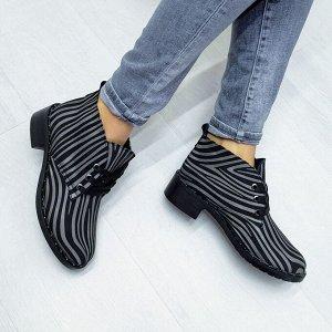 Кожаные ботинки Desert в цвете темная зебра