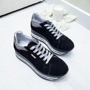 Черные замшевые кроссовки XL