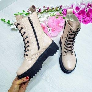 Пудровые кожаные ботинки Woodstock