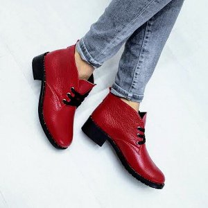 Красные кожаные ботинки Desert