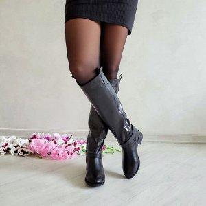 Черные кожаные сапоги NOTTA