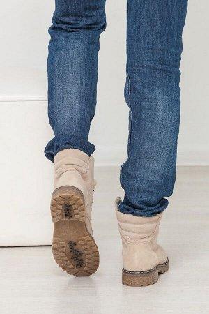 Бежевые замшевые ботинки Comfort