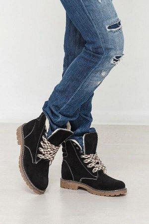 Черные замшевые ботинки Comfort