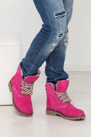 Замшевые ботинки Comfort цвета фуксия